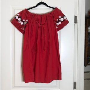 Zara red cotton dress
